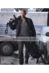 Will Smith I Am Legend Black Leather Jacket