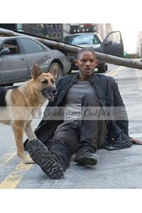 Will Smith I Am Legend Black Leather Jacket