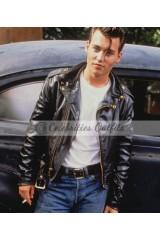 Johnny Depp Cry-Baby Biker Leather Jacket
