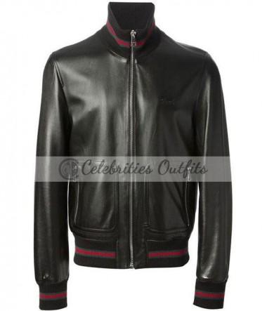 james-franco-gucci-black-bomber-jacket