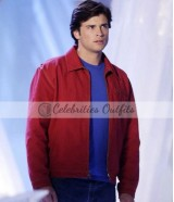 Clark Kent Smallville Red Suede Jacket