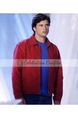 Clark Kent Smallville Red Suede Jacket