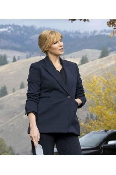Yellowstone S3 Kelly Reilly Wool Blazer Jacket