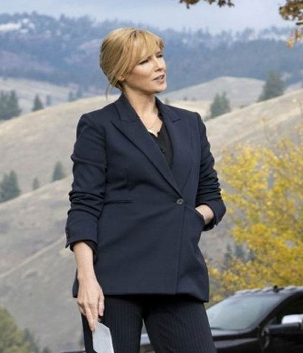 Yellowstone S3 Kelly Reilly Wool Blazer Jacket