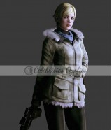 Sherry Birkin Resident Evil 6 Cosplay Costume Fur Jacket