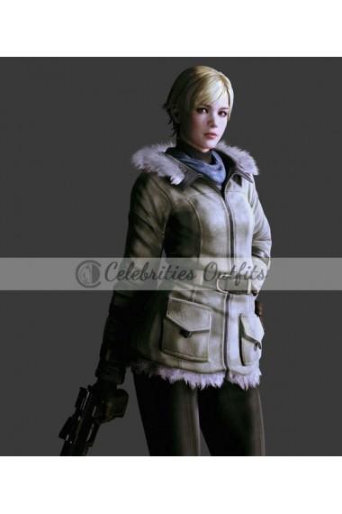 Sherry Birkin Resident Evil 6 Cosplay Costume Fur Jacket