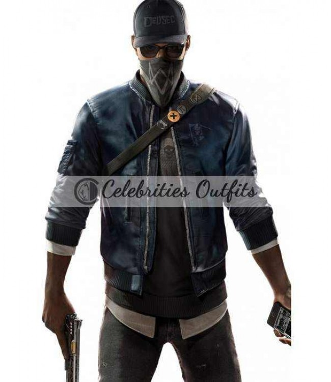 Watch Dogs 2 Dedsec Marcus Holloway Anime Bomber Jacket
