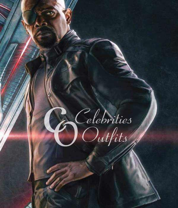 Nick Fury Avengers Age Of Ultron Black Leather Jacket