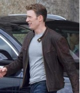 Captain America Chris Evans Civil War Brown Jacket