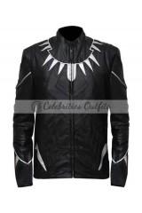 Black Panther Captain America Civil War Leather Jacket Costume