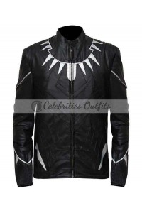 Black Panther Captain America Civil War Leather Jacket Costume