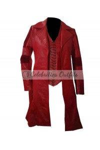 Captain America Civil War Scarlet Witch Red Costume Coat