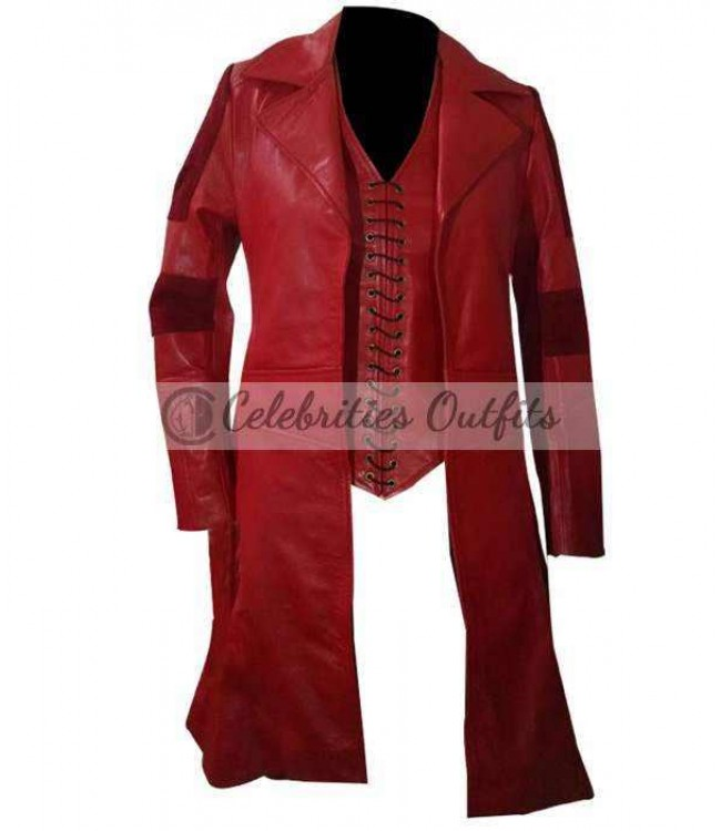 Scarlet Witch Captain America Elizabeth Olsen Coat Costume