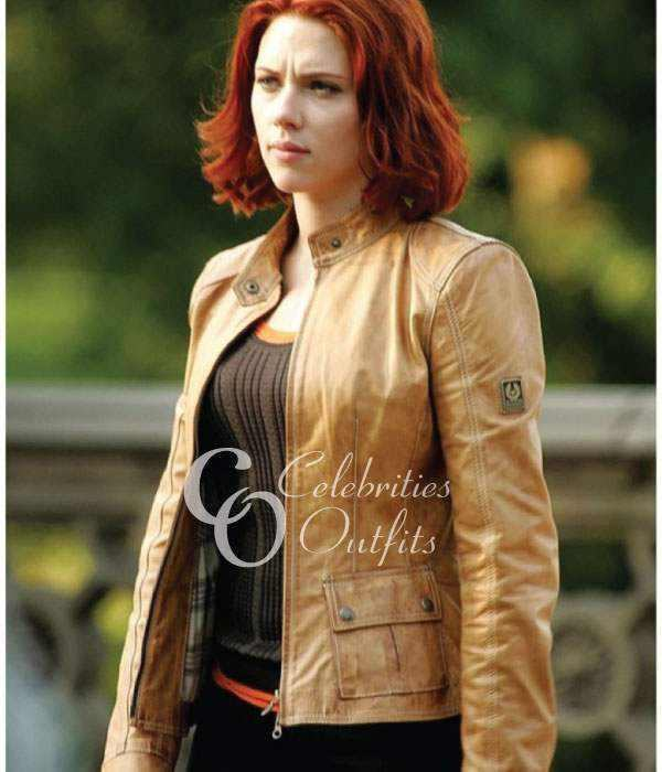 scarlett-johansson-tan-leather-jacket