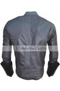 Batman Arkham Knight Grey Leather Jacket