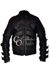 The Dark Knight Rises Batman Black Leather Costume Jacket
