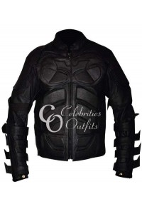 The Dark Knight Rises Batman Black Leather Costume Jacket