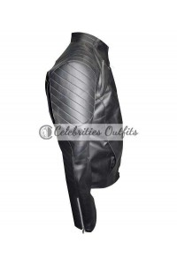 Batman Begins Christian Bale Black Motorcycle Jacket
