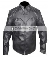 Batman Begins Christian Bale Black Motorcycle Jacket