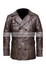 Inglourious Basterds Brad Pitt Brown Leather Jacket