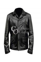 Killing Them Softly Brad Pitt Black Leather Jacket