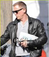 Vanity Fair Daniel Craig Black Leather Jacket