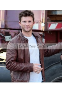 Fate Of The Furious 8 Scott Eastwood Brown Leather Jacket
