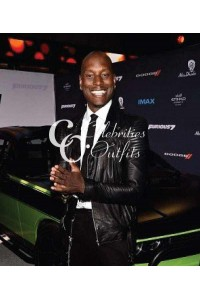 Tyrese Gibson Black Jacket in Fast And Furious Premiere