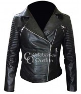 Fast And Furious 6 Gal Gadot Black Leather Jacket