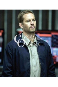 Paul Walker Fast And Furious 6 Blue Cotton Jacket