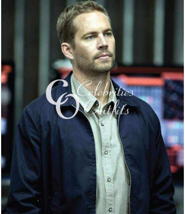 Fast And Furious 6 Paul Walker Brain Blue Cotton Jacket