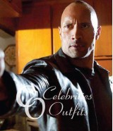 Dwayne Johnson Faster Movie Black Leather Jacket