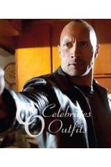 Dwayne Johnson Faster Movie Black Leather Jacket