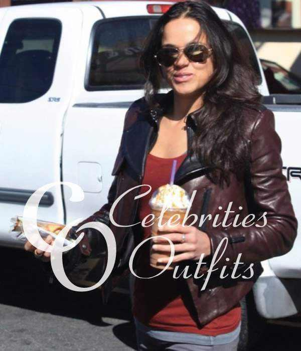 michelle-rodriguez-brown-leather-jacket