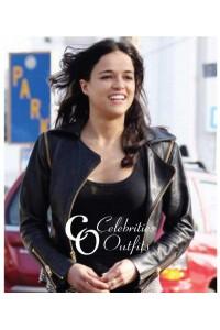 Michelle Rodriguez Venice Beach Black Studded Jacket