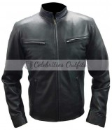 Vin Diesel Fast And Furious 6 Black Leather Jacket