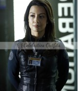 Ming-Na Wen Agents of Shield Melinda May Black Leather Jacket