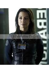 Ming-Na Wen Agents of Shield Melinda May Black Leather Jacket
