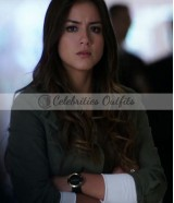 Chloe Bennet Agents of SHIELD S1 Skye Green Cotton Jacket