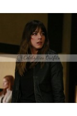 Agents of SHIELD Chloe Bennet Skye Black Leather Jacket