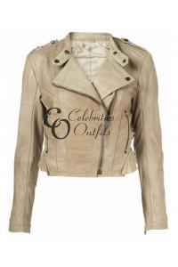 Doctor Who Karen Gillan White Leather Jacket