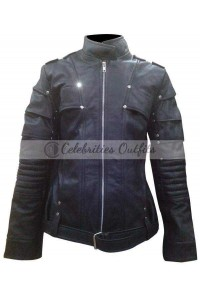 Black Canary Arrow TV Series Black Leather Jacket Costume