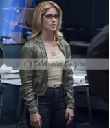 Emily Rickards Felicity Smoak Arrow S7 Green Jacket
