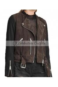 Arrow Katie Cassidy Biker Suede Jacket