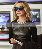 Cat Grant Supergirl S2 Calista FlockHart Black Leather Vest