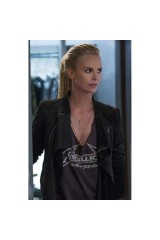 Fast And Furious 8 Charlize Theron Black Jacket