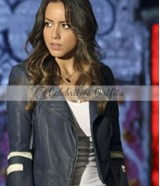 Agents of SHIELD Daisy Skye Quake Blue Leather Jacket