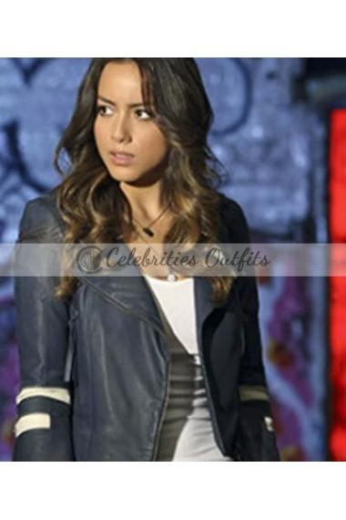 Agents of SHIELD Daisy Skye Quake Blue Leather Jacket