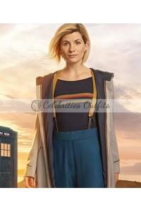 Doctor Who 13th Jodie Whittaker Beige Hooded Coat