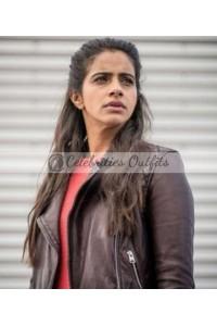 Yasmin Khan Doctor Who Mandip Gill Leather Jacket